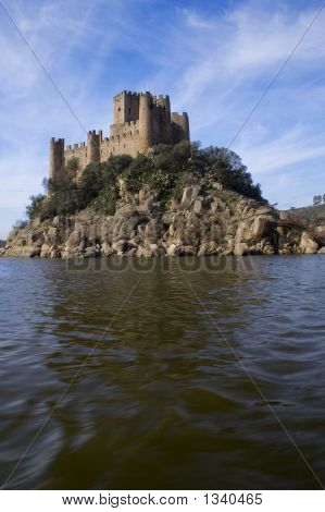 Almourol Castle And River
