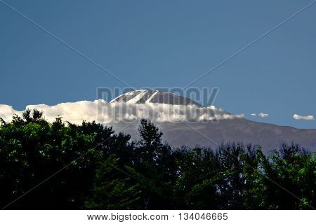 Mount Kilimanjaro Vovered With Snow