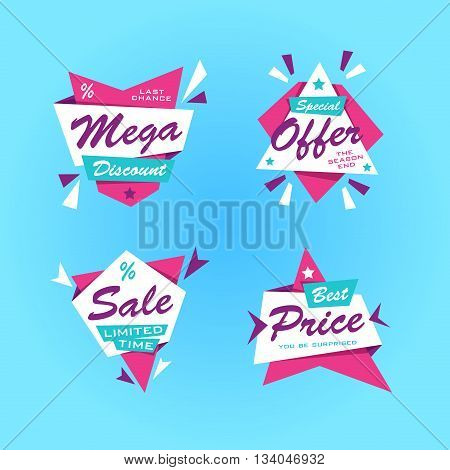 Special offer sticker. Promotion tag. Price labels. Sale limited offer banner set. Advertisement template. Limited Discount