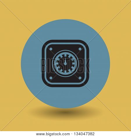 Abstract Car instruments symbol or sign, vector illustration