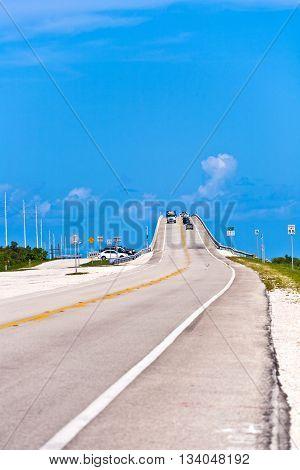 bridge in the Florida Keys the seven mile bridge