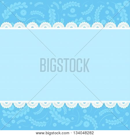 Vector floral greeting card in blue tones