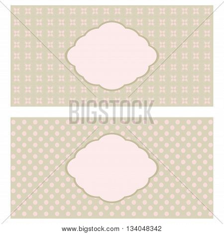 Set of floral greeting cards in pastel tones