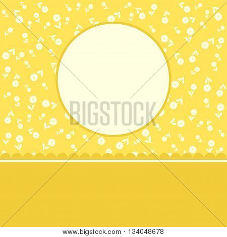 Floral decorated beautiful greeting card for you
