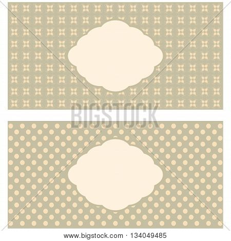 Set of floral greeting cards in pastel tones.