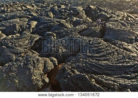 Stones Of Volcanic Flow Give A Beautiful  Structure