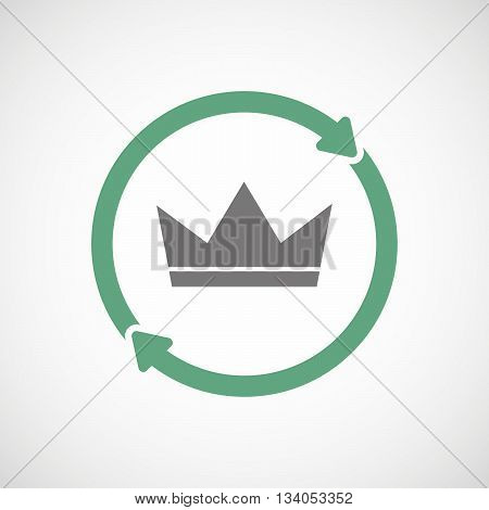 Reuse Line Art Sign With A Crown