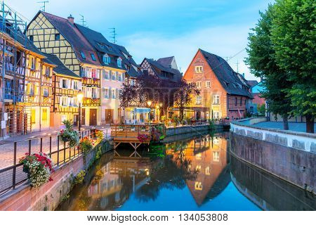 Colmar France Night