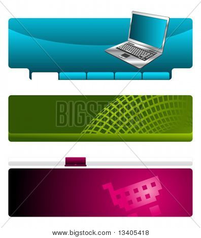 Web site header vector template set 1