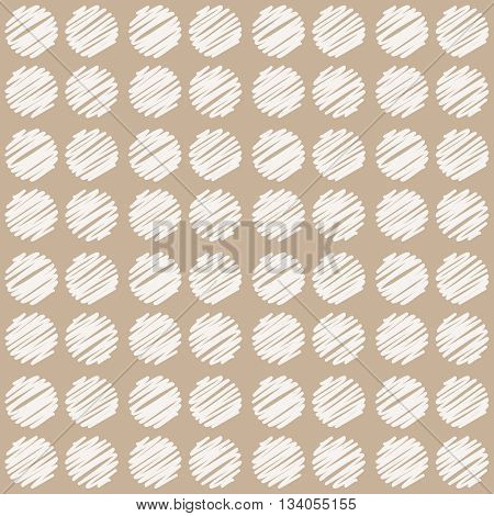 Seamless pattern, vintage style. Abstract geometric background with sketchy dots. Vector pattern for wrapping, textile, carpet, paper or other printing products