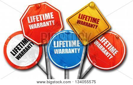 lifetime warranty, 3D rendering, rough street sign collection