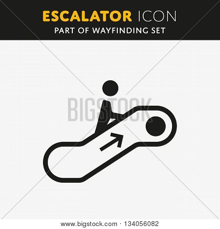 Vector elevator icon. Stair sign. Walk man