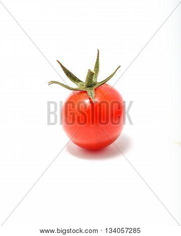 Tomato tummy toe cherry colorful fresh ripe on white background