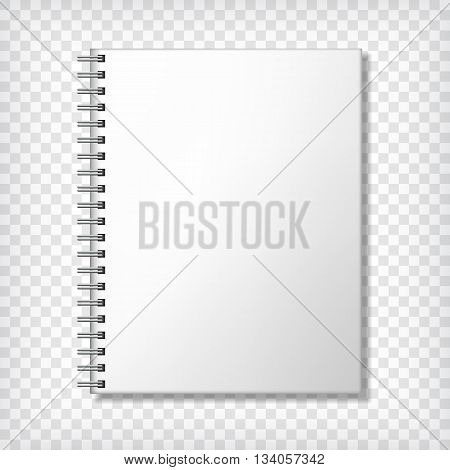 Notebook mockup, with place for texture. Corporate identity