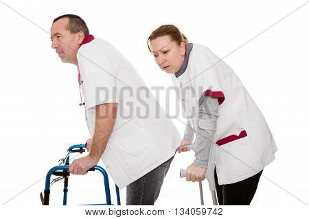 Two Revised Nurses Are Limping