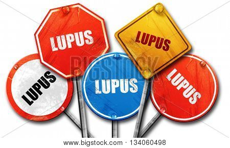 lupus, 3D rendering, rough street sign collection