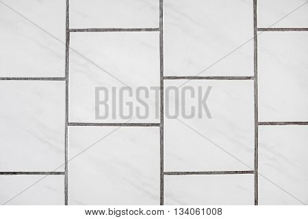 Tiles floor background texture material - white with joint