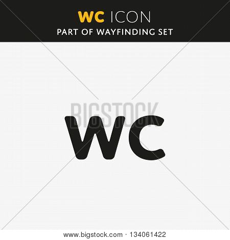 WC Toilet sign icon. Restroom or lavatory symbol. Vector illustration