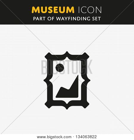 Vector picture icon. Photo sign. Art with border symbol.