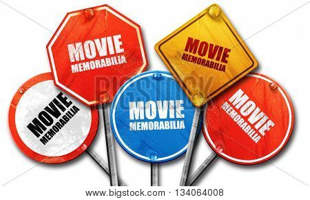 movie memorabilia, 3D rendering, rough street sign collection