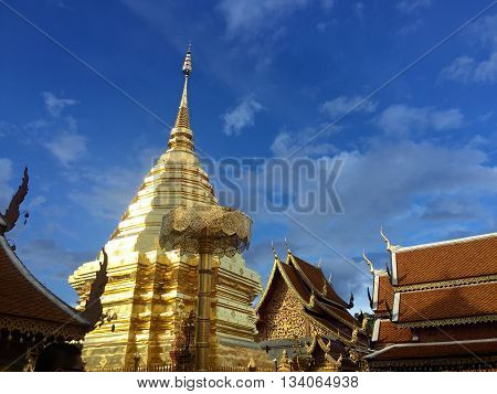 Wat Phrathat Doi Suthep.the city's most famous temple, stands on Doi Suthep, a hill to the north-west of the city.
