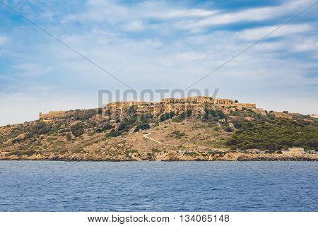 Island Comino In Mediterranean Sea