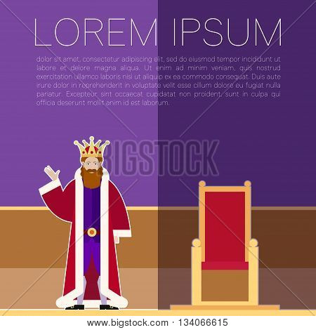 Vector image of the King purple banner