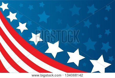 Abstract colored USA flag illustration art design