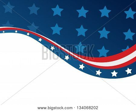 Abstract colored art of USA flag in style
