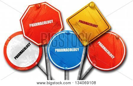pharmacology, 3D rendering, rough street sign collection