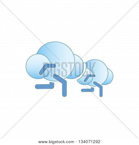 Abstract running clouds icon vector illustration isolated on white background.