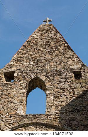 Detail of the ruins Schaumburg in Austria - Church