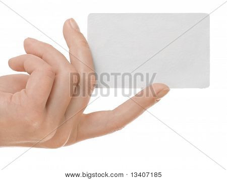 presenting a business card