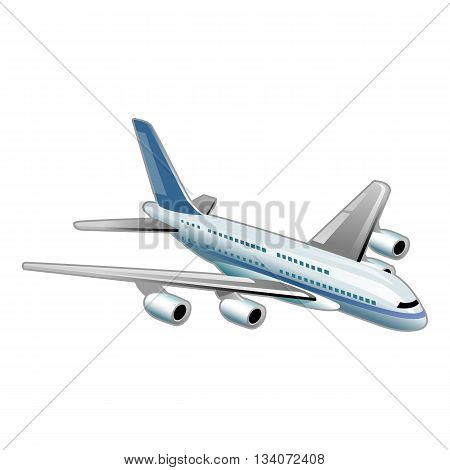 Airplane vector illustration isolated on the white background