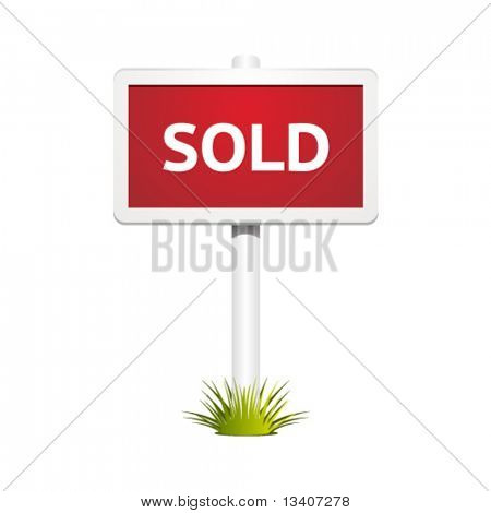 Vector sold sign