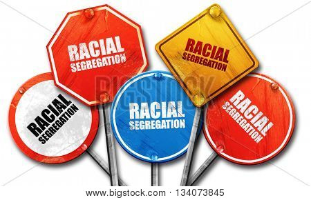racial segragation, 3D rendering, rough street sign collection