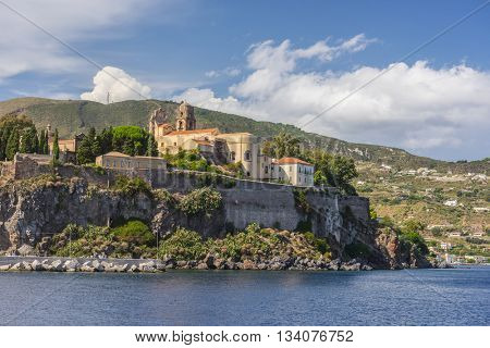 Lipari Island the largest of Aeolian Islands of the Norhtern coast of Sicily, Italy