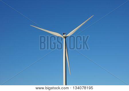 Bourgogne France - april 13 2016 : wind turbine near Auxerre