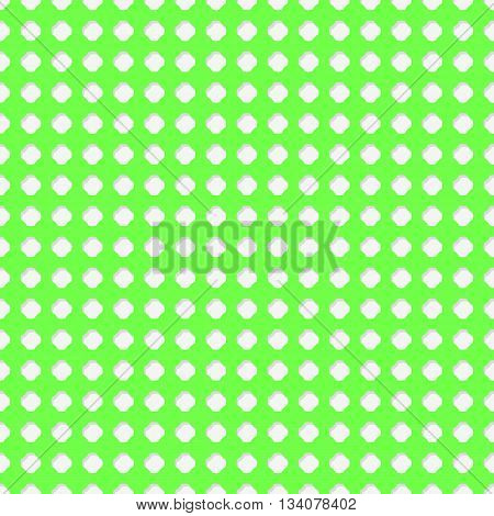 Connected circles of paper with petals cut on the edges and shadows in the cutout. Green lime color. Seamless vector texture. Seamless pattern. Vector geometric background.