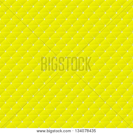 Connected yellow triangles of paper with deformed petals cut on the edges and shadows in the cutout. Seamless texture. Seamless pattern. Geometric background.