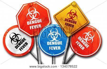 Dengue fever concept background, 3D rendering, rough street sign