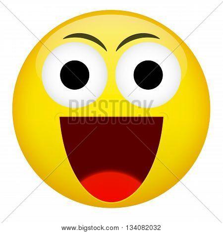 Smile laugh frown emotion. Emoji emoticon illustration.