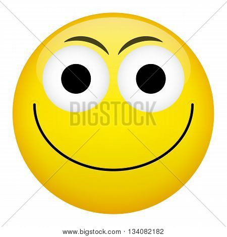 Smile laugh frown criminal evil emotion. Emoji illustration.