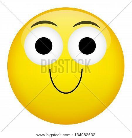 Smile laugh fun emotion. Emoji emoticon illustration.