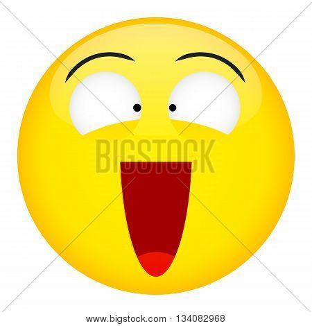Kick in the balls laugh emotion. Emoji emoticon illustration.