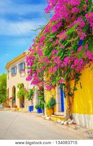 Street in Kefalonia, Greece