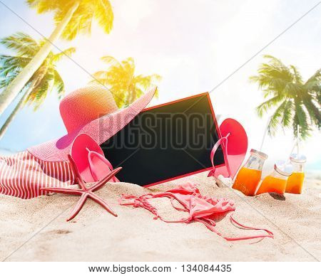 Holiday Time Summer Day Beach Accessories Chalk Board