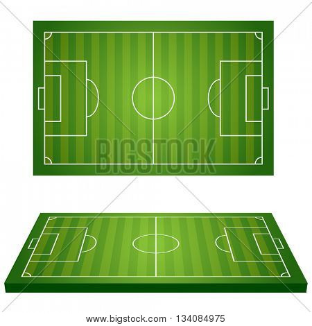 Football Field. Sport icons. Illustration Vector.