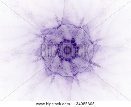 Lacy colorful clockwork pattern digital fractal art design