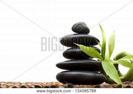 Zen concept with bamboo and stone - alternative medicine and treatment